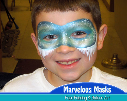 Jack Frost Mask Christmas Face Art