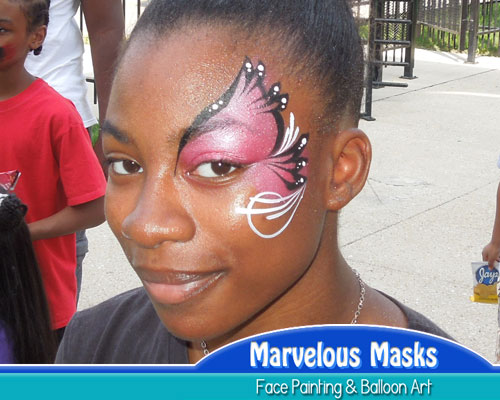 Diva Swirl Fast Chicago Face Painting