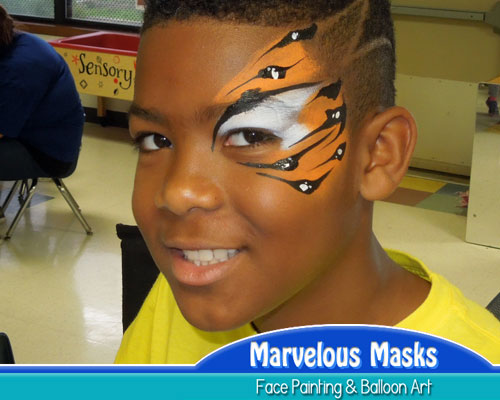 Tiger Eye Fast Chicago Face Painting