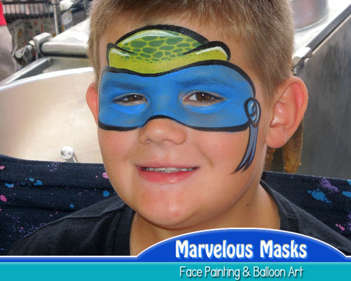 Ninja Turtle Mask Face Painting