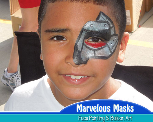 Terminator Eye Face Painting