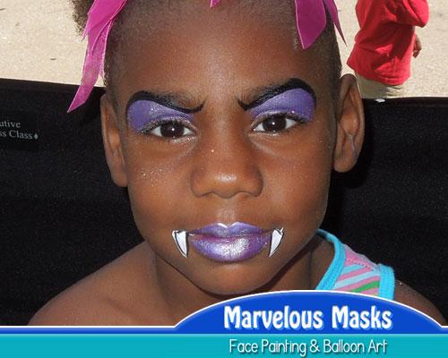 vampire princess halloween face painting