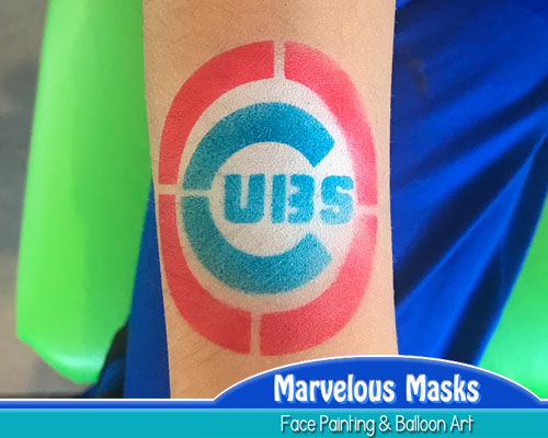 Chicago Cubs Airbrush Tattoo