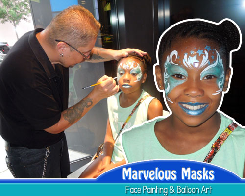 High Quality Face Art by Marvelous Masks
