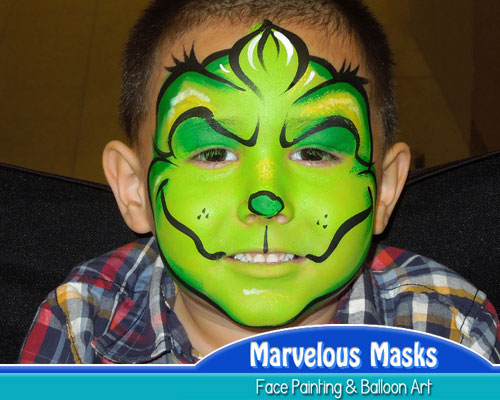 Christmas Face Painting Ideas.Marvelous Masks Christmas Face Painting For Holiday Parties