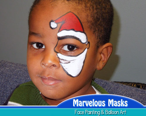 Christmas Face Paint.Marvelous Masks Has Christmas Face Painting Designs For All