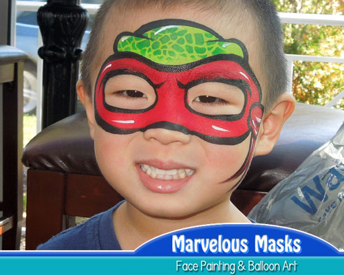 Ninja Turtle Mask Fun Chicago Face Art