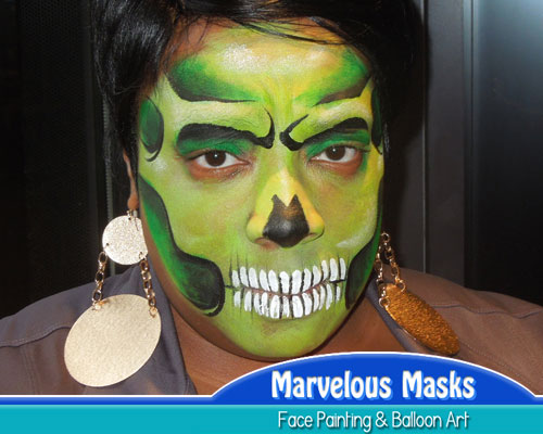 Scary SkullHalloween Face Painting