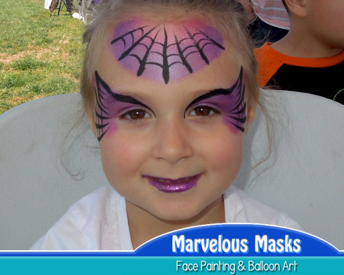 Spiderweb QueenHalloween Face Painting